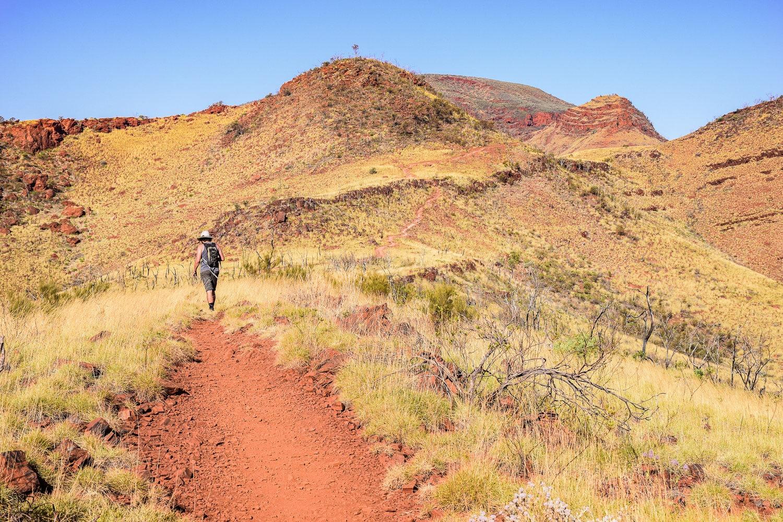 Randonnée du Mont Bruce à Karijini parc national côte ouest de l'Australie