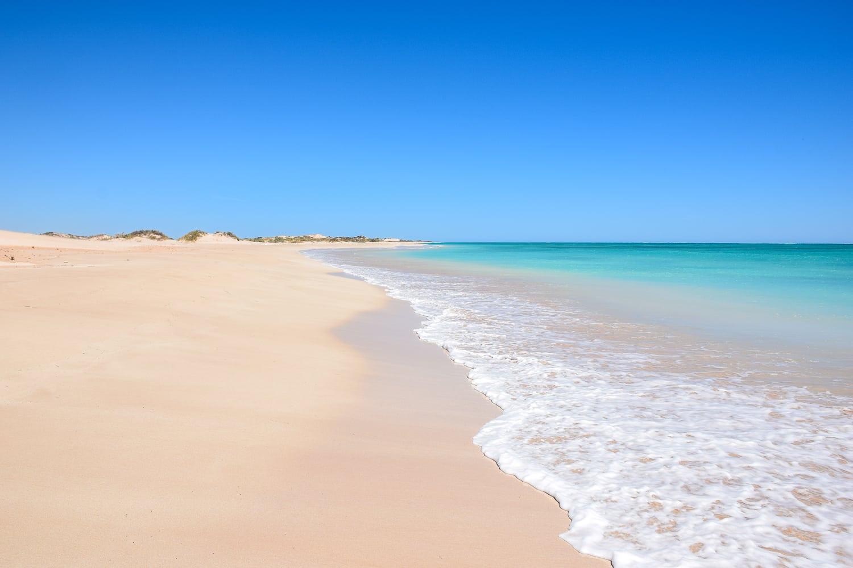 Plage près d'Exmouth sur la côte ouest de l'australie