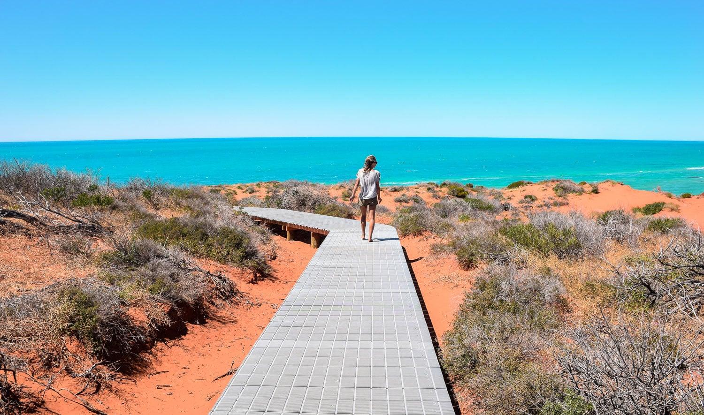 Parc National François Perron sur la côte ouest de l'Australie road trip