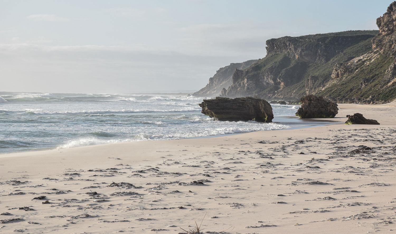Plage au sud de la côte ouest de l'Australie