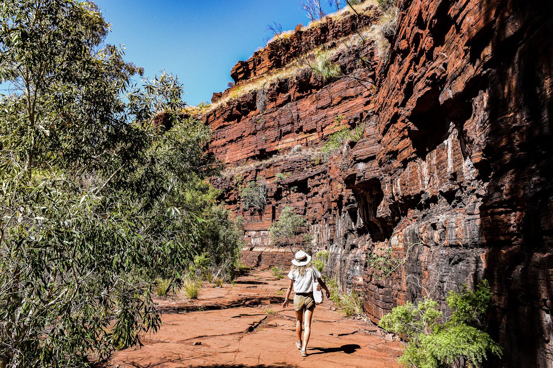 randonnée Karijini parc national côte ouest de l'Australie