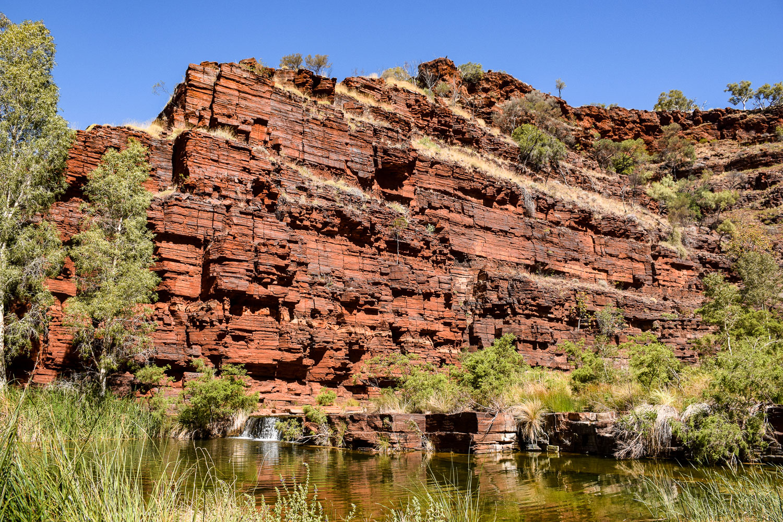 Canyon et cascade Karijini parc national côte ouest de l'Australie