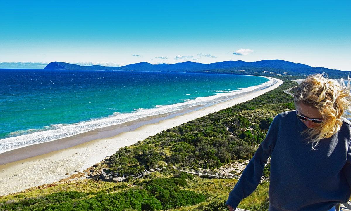 Point de vue Bruny Island sur l'île de Tasmanie en Australie