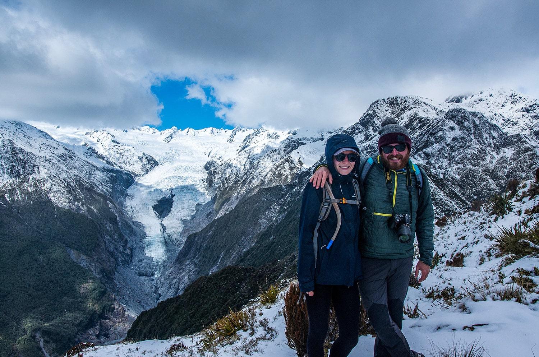 Randonnée pour observer le glacier Franz Jose en Nouvelle-Zélande