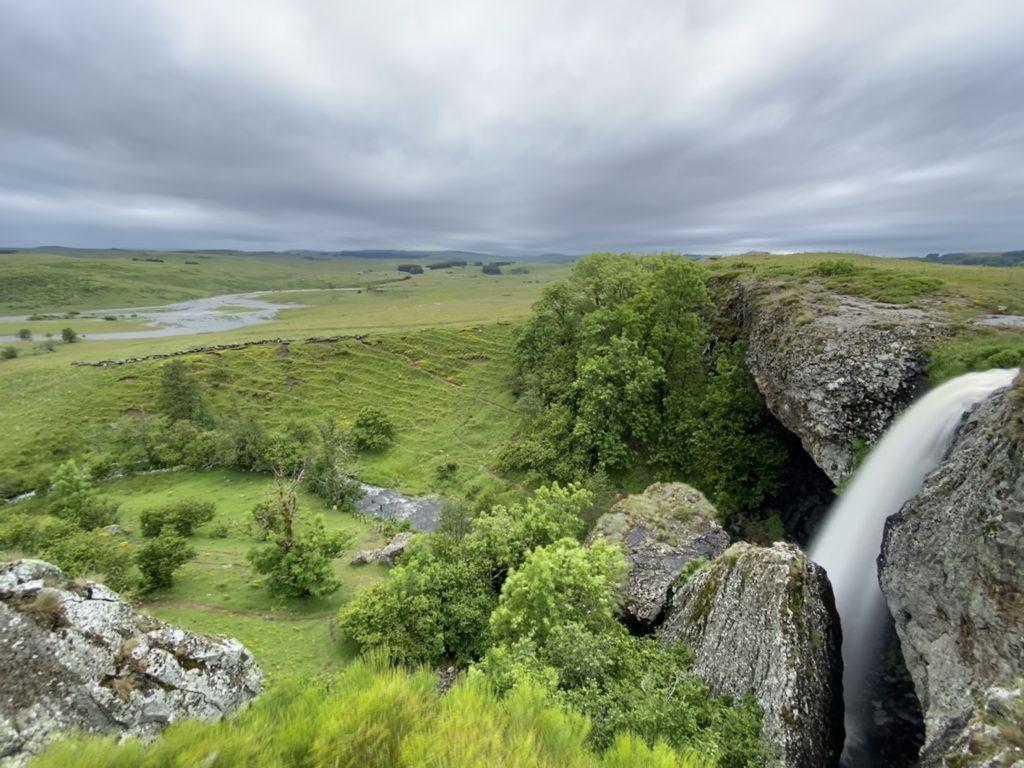Cascade du Déroc sur le plateau de l'Aubrac