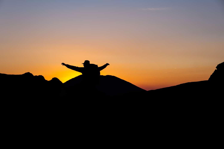 lever de soleil sur le pic de l'Infern