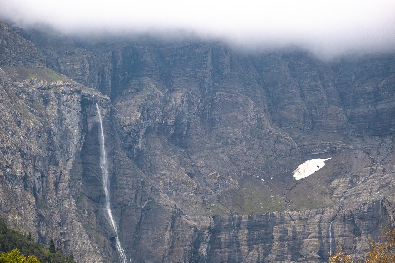 zoom sur la cascade du cirque de Gavarnie