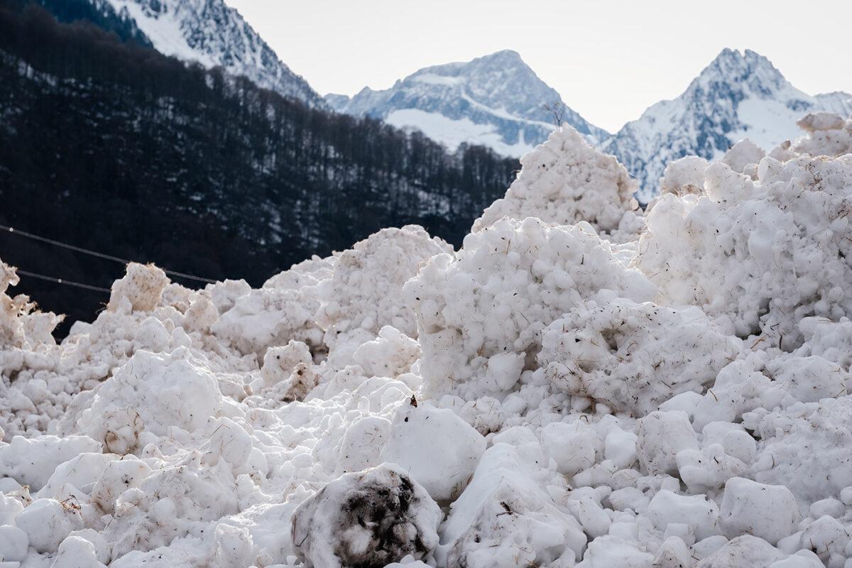 Avalanche dans le Val d'Azun