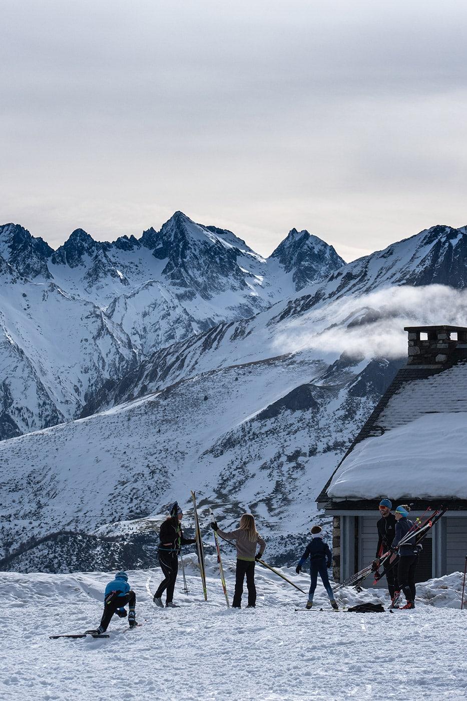 Station de ski nordique du val d'azun au col de couraduque