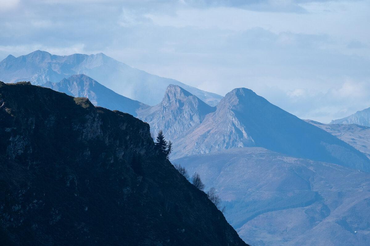 Paysage des Pyrénées randonnée au lac d'Ourrec