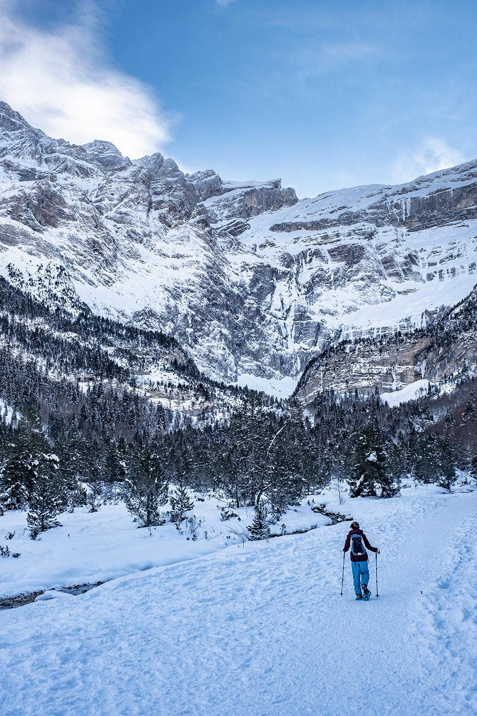 Cirque de Gavarnie en hiver : blog de randonnée raquette