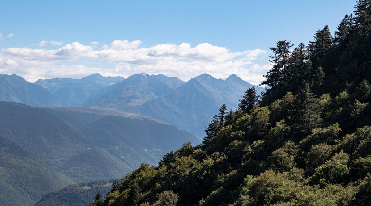 Paysage depuis le col d'Aspin à proximité du lac de Payolle