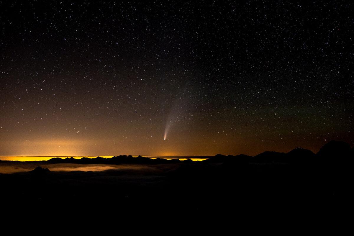 Passage de la comète Neowise dans les Pyrénées