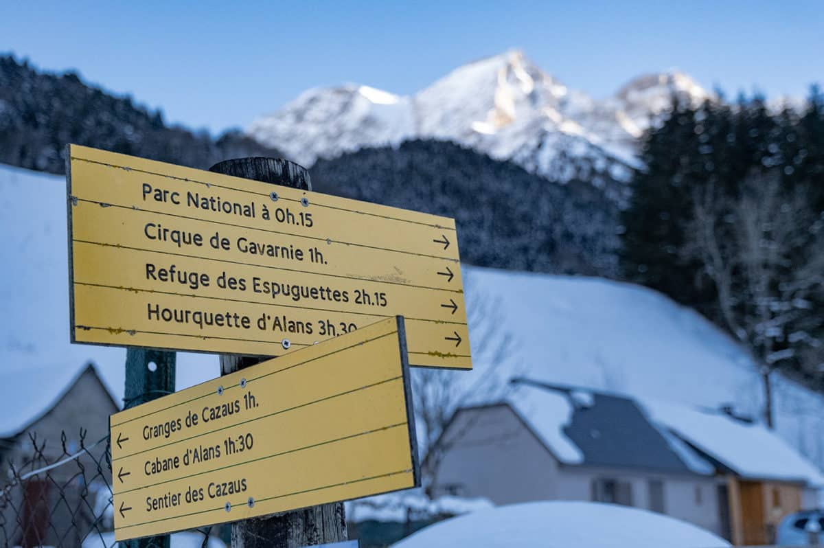 Randonnée Gavarnie en hiver : raquettes à neige