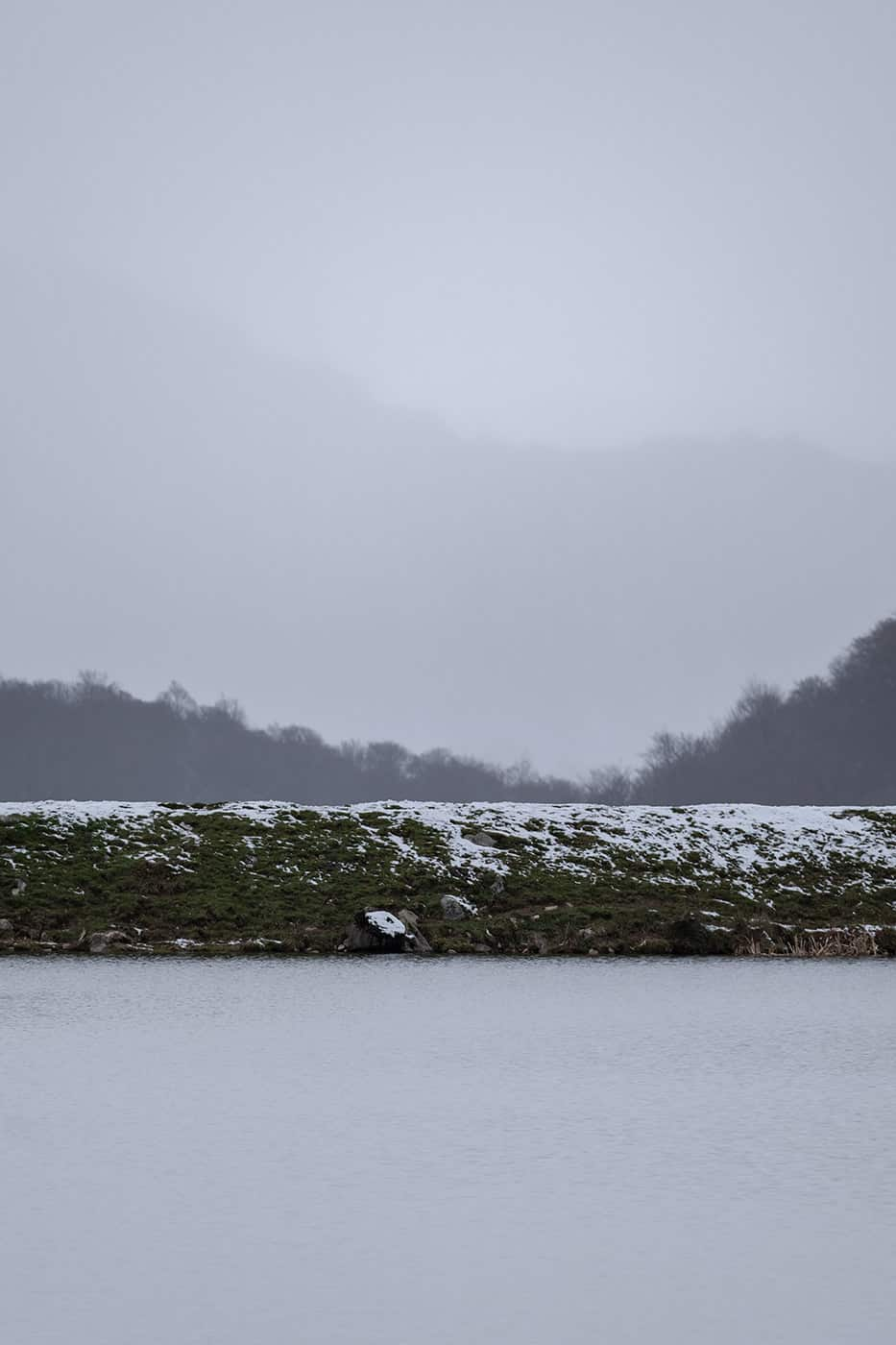Lac de Payolle et brouillard