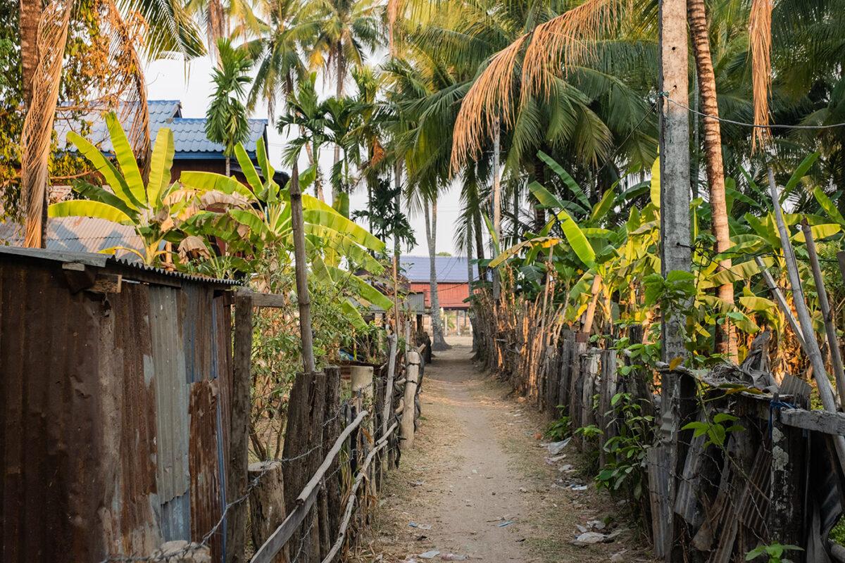 Paysage du laos en asie du sud est