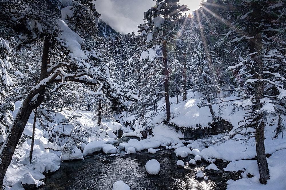 Randonnée en raquettes à neige à Cauterets - Pont d'Espagne