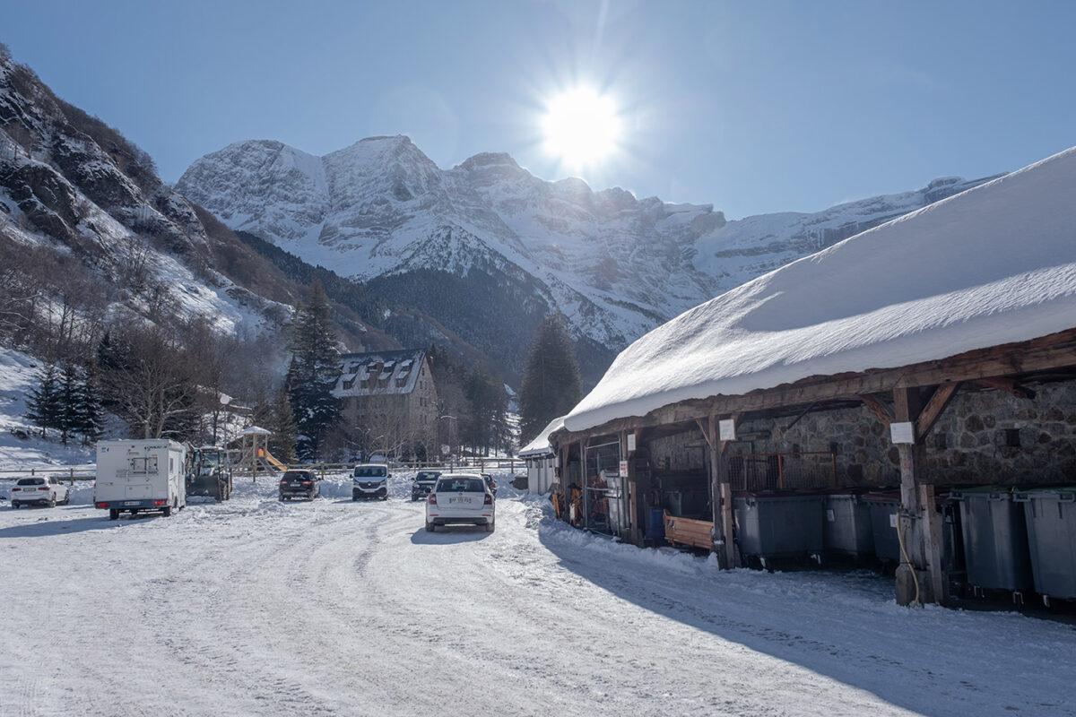 Village de Gavarnie en hiver