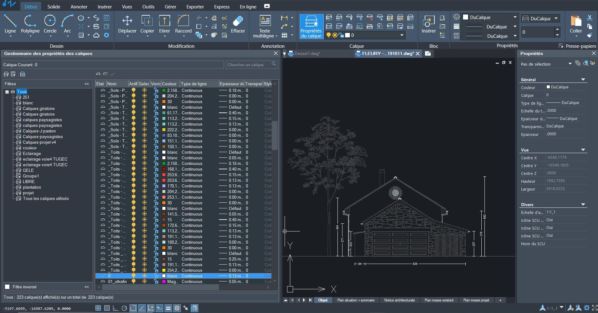 Aperçu du logiciel de DAO ZWCAD