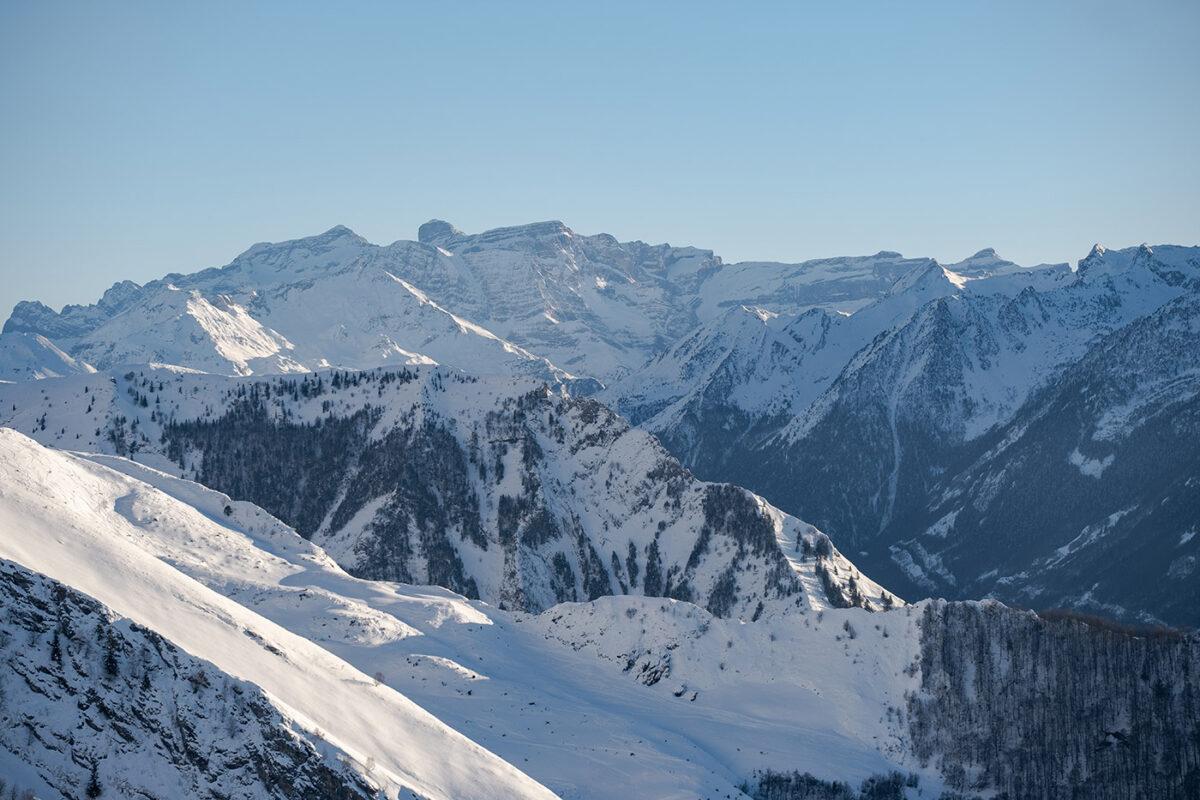 Vue sur massif du Mont Perdu depuis Hautacam
