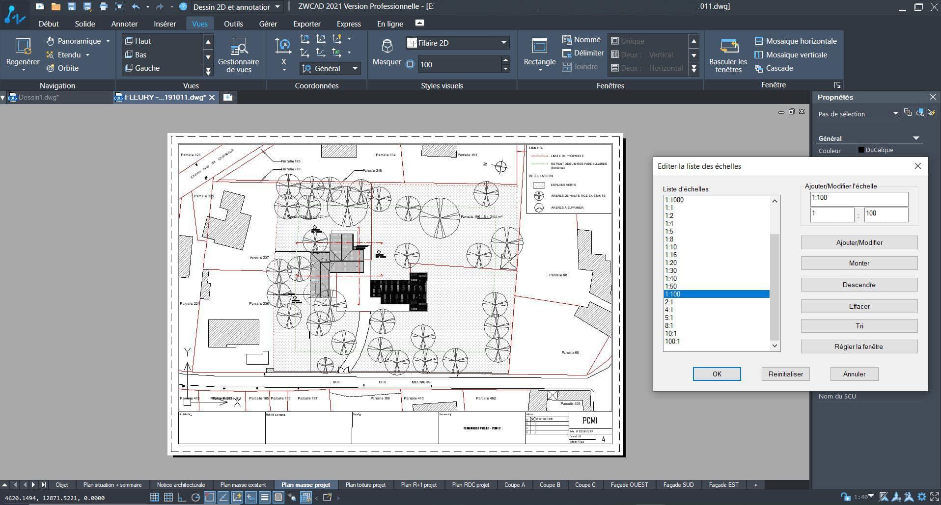 Création de plans 2D grâce à ZWCAD