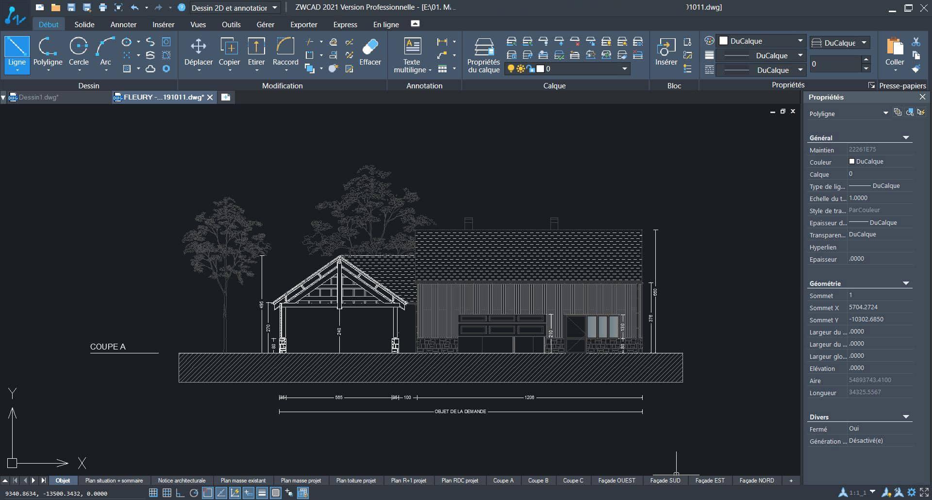 Aperçu de ZWCAD, logiciel DAO pour architectes et dessinateurs