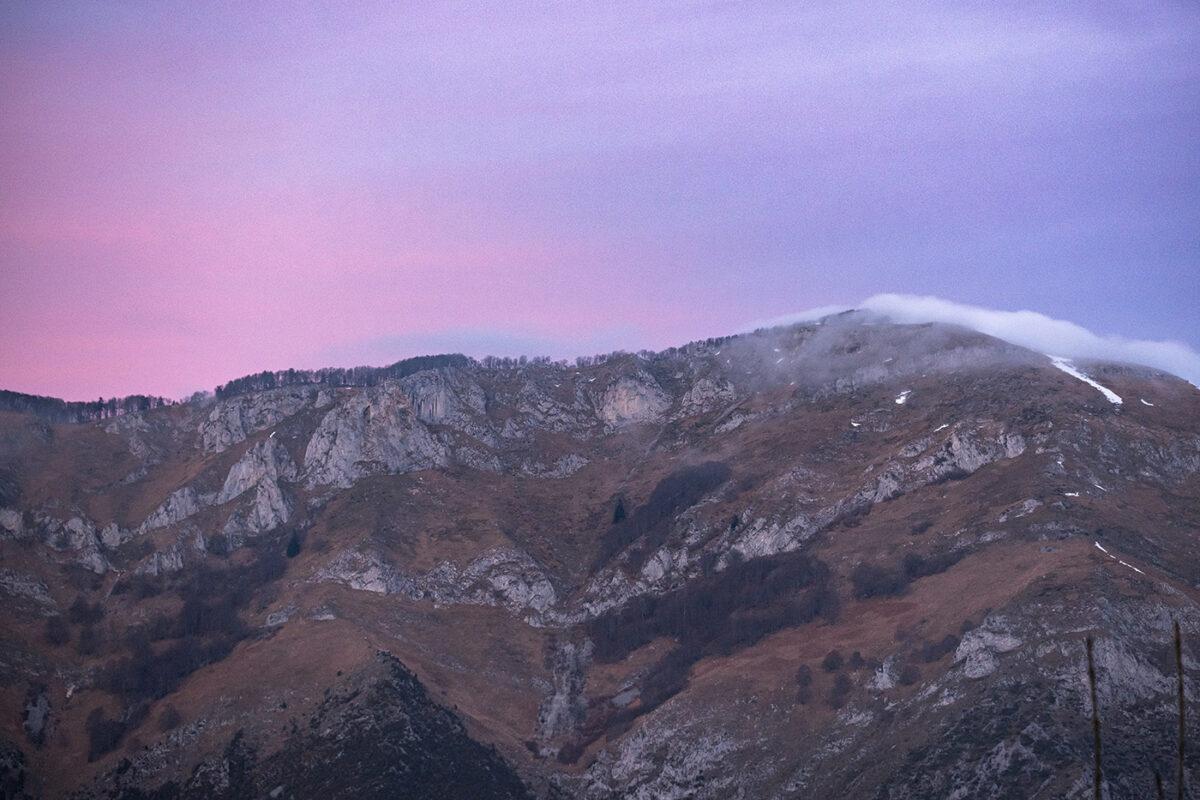 Coucher de soleil sur la vallée de Campan