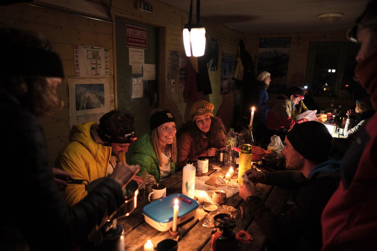 Repas au refuge des Oulettes de Gaube