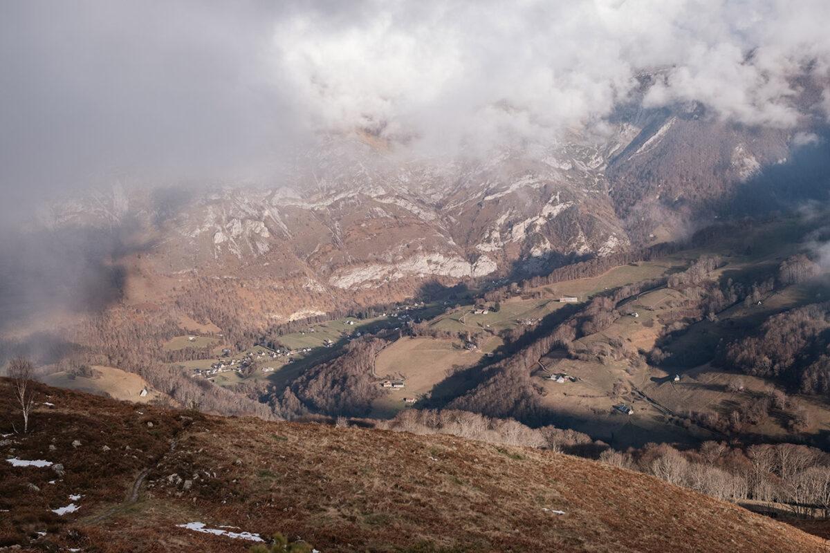 Vallée de Campan vue depuis la randonnée du lac d'Aygue Rouye