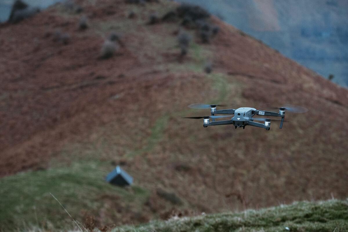 vol drone en montagne