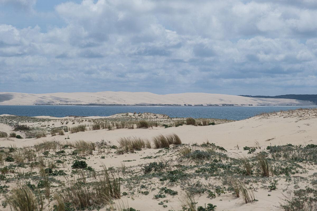 Plage cap ferret vue sur la dune du pilat