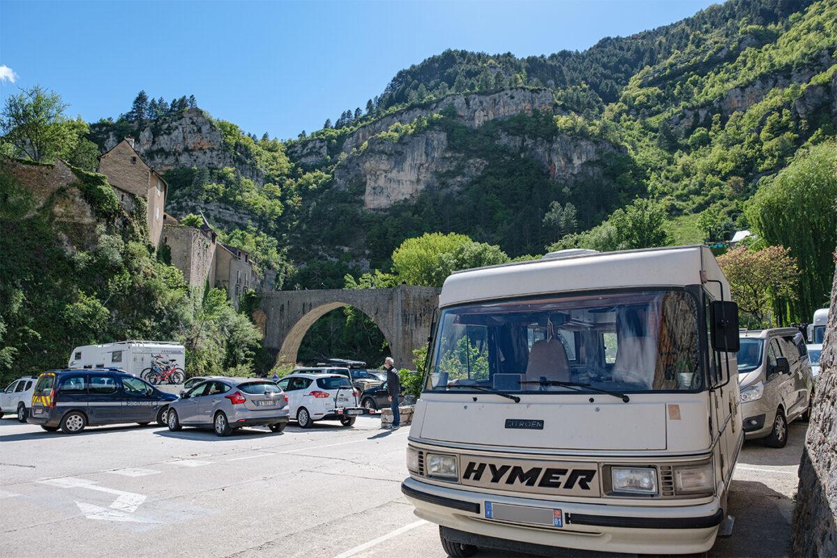 Emplacement pour camping-car gratuit à Sainte-Énimie