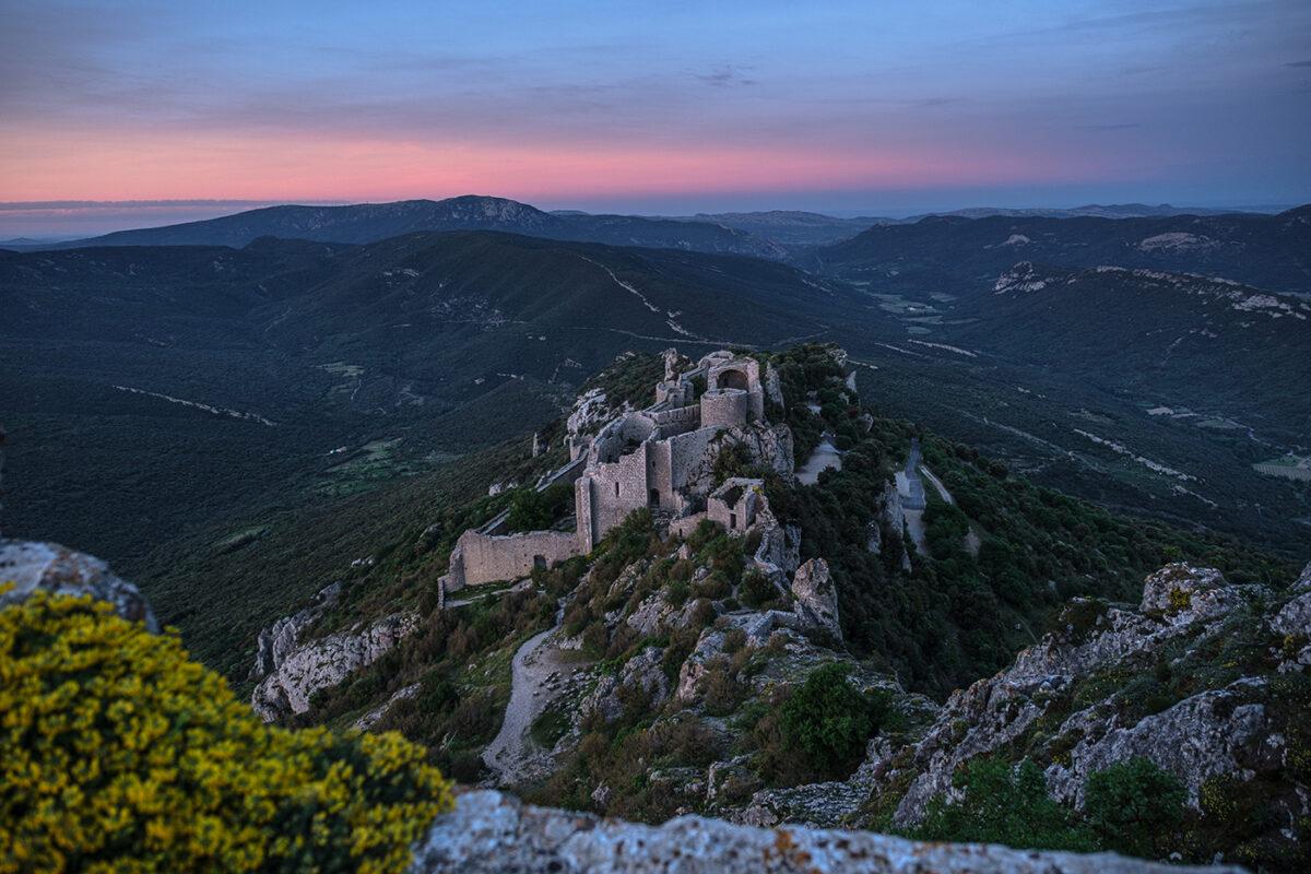 Visite du château de Peyrepertuse au coucher du soleil