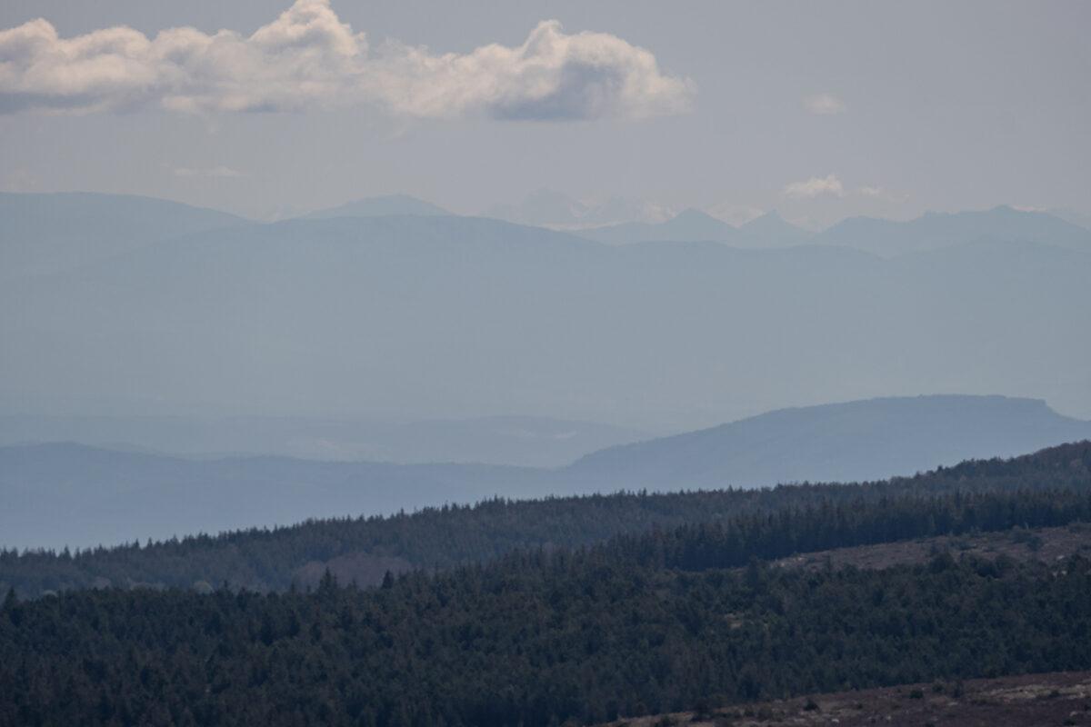 Vue du sommet du Mont Lozère