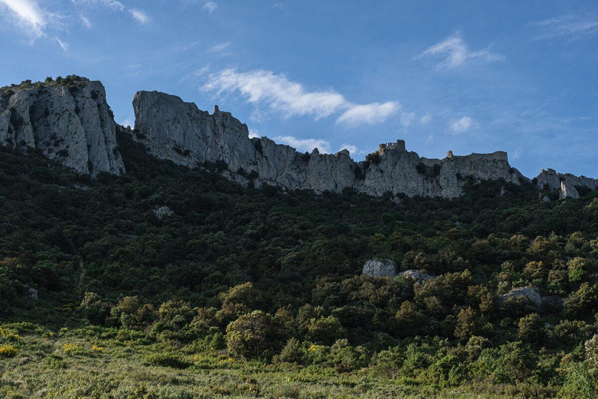 Vue sur le château de Peyrepertuse