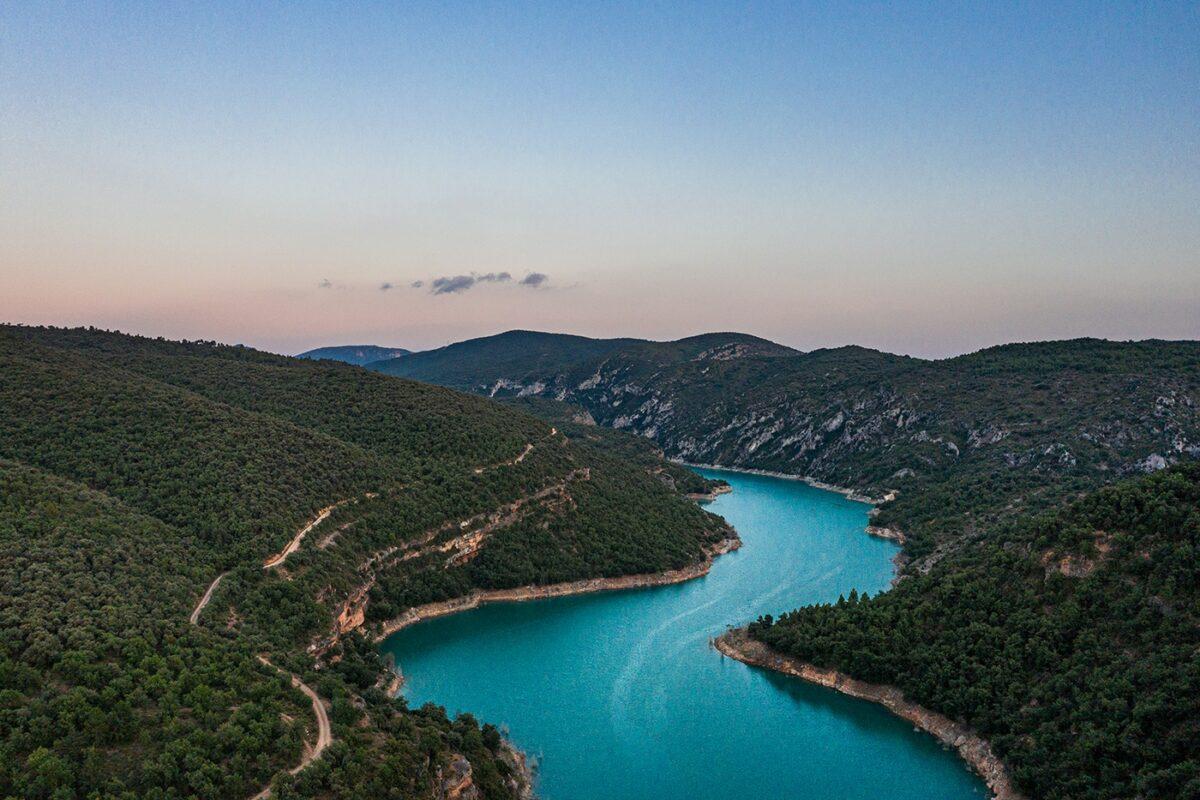 Lac Embalse de Canelles Muraille de Finestas