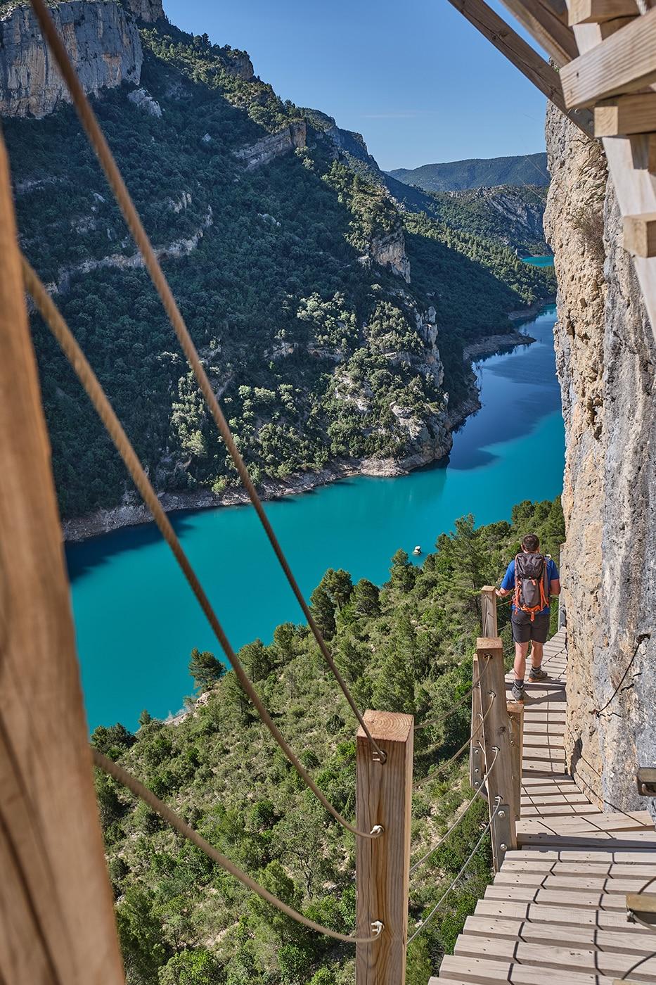 Passerelles de Montfalco en Espagne