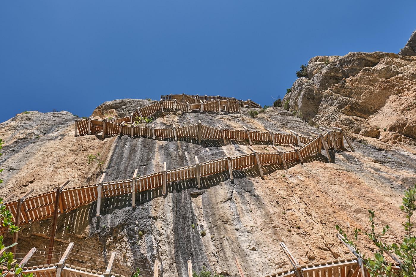 Passerelles de Montfalco au Congost de Mont Rebei en Espagne