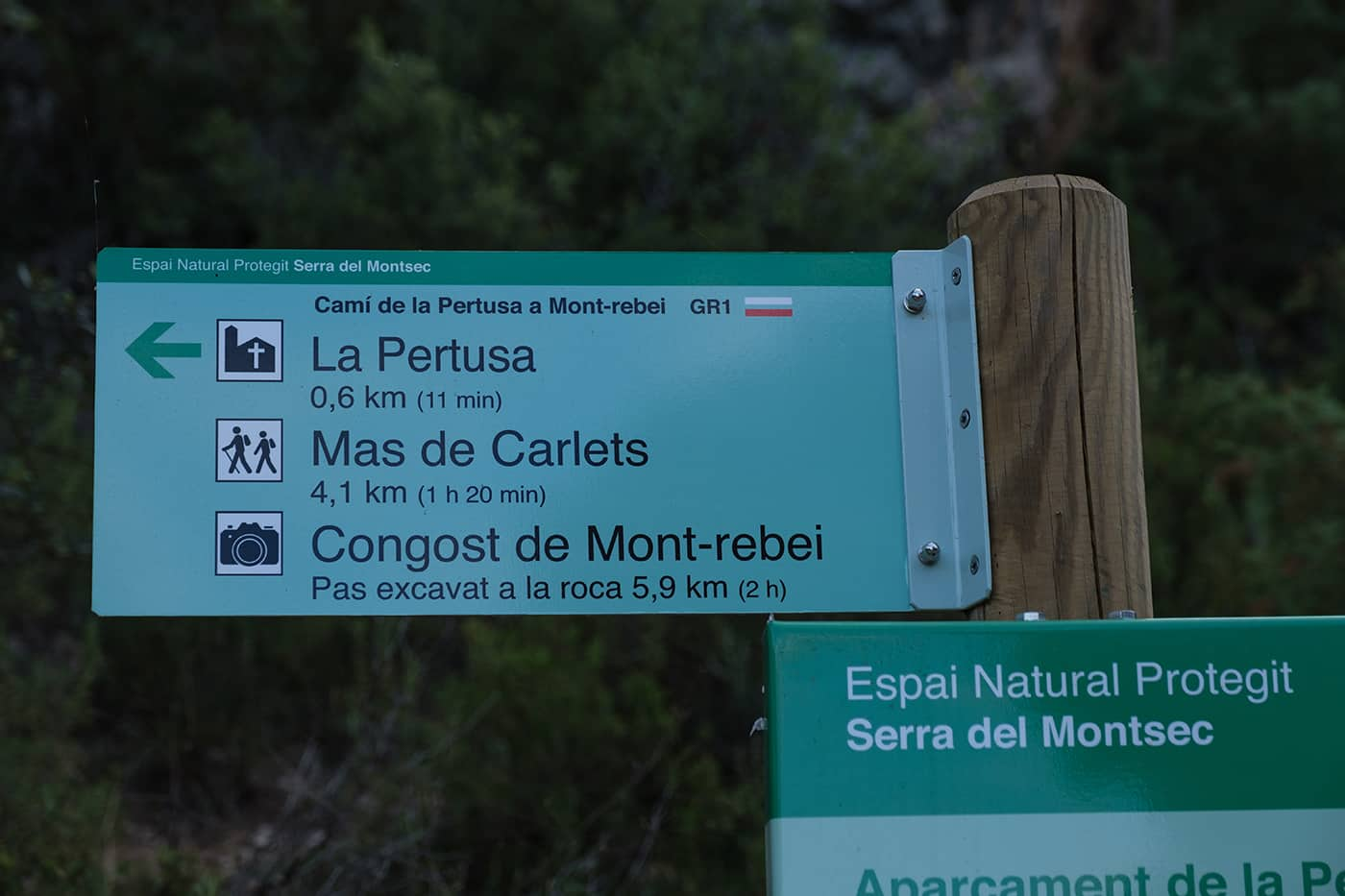 Parking de la Pertusa pour aller au Congost de Mont Rebei