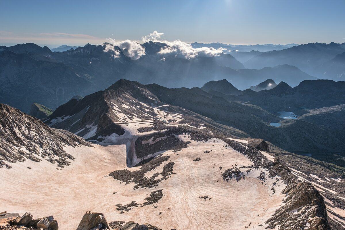 Aperçu du panorama en arrivant au sommet des Posets