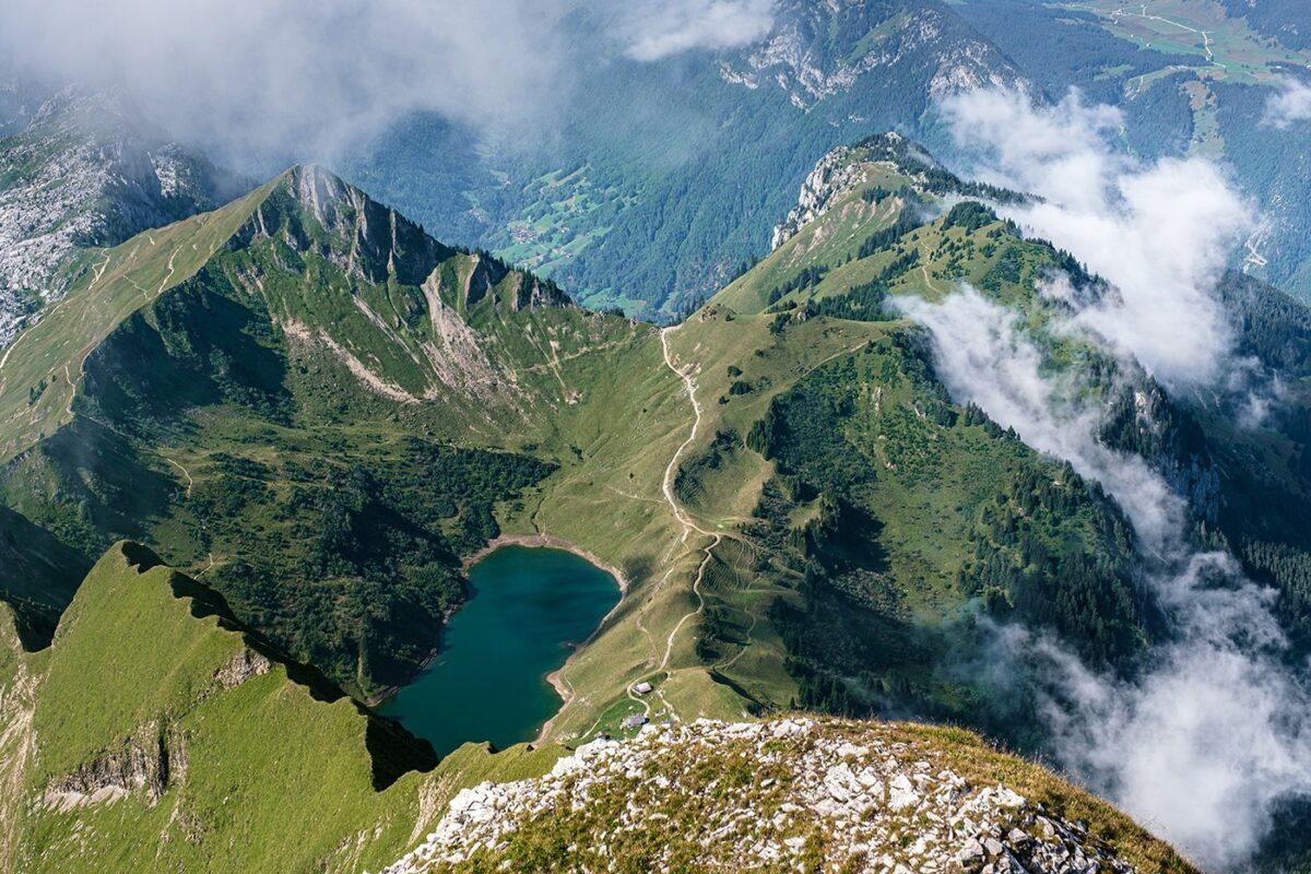 Lac de Lessy depuis le pic de Jallouvre