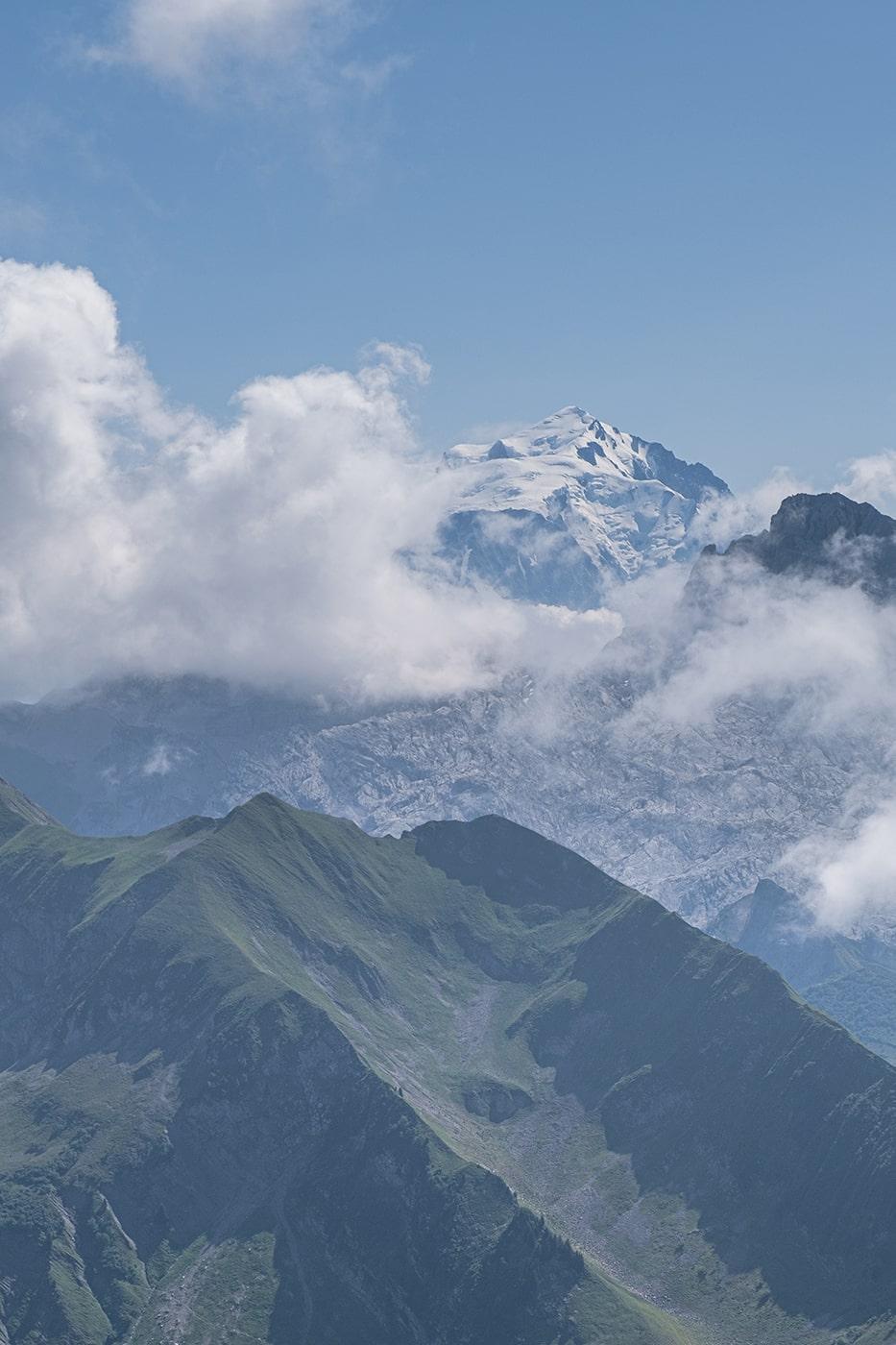 Mont Blanc depuis le lac de Peyre