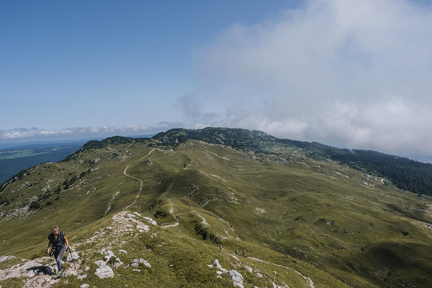Randonnée au Crêt de la Neige et au Reculet dans le Jura