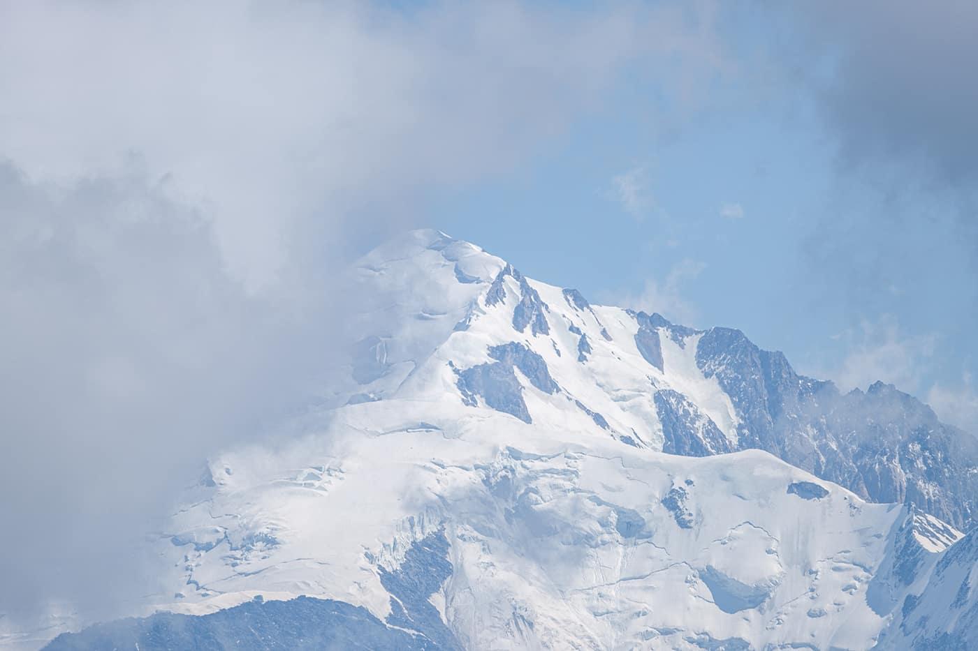 Vue sur le Mont Blanc depuis la Pointe Blanche