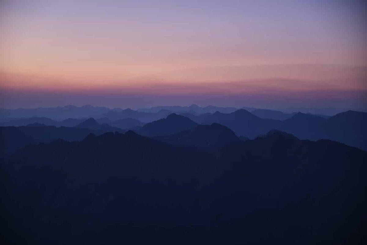 Lever de soleil depuis le pic du Montcalm