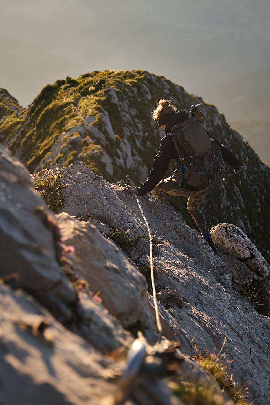 Mont Charvin descente via ferrata