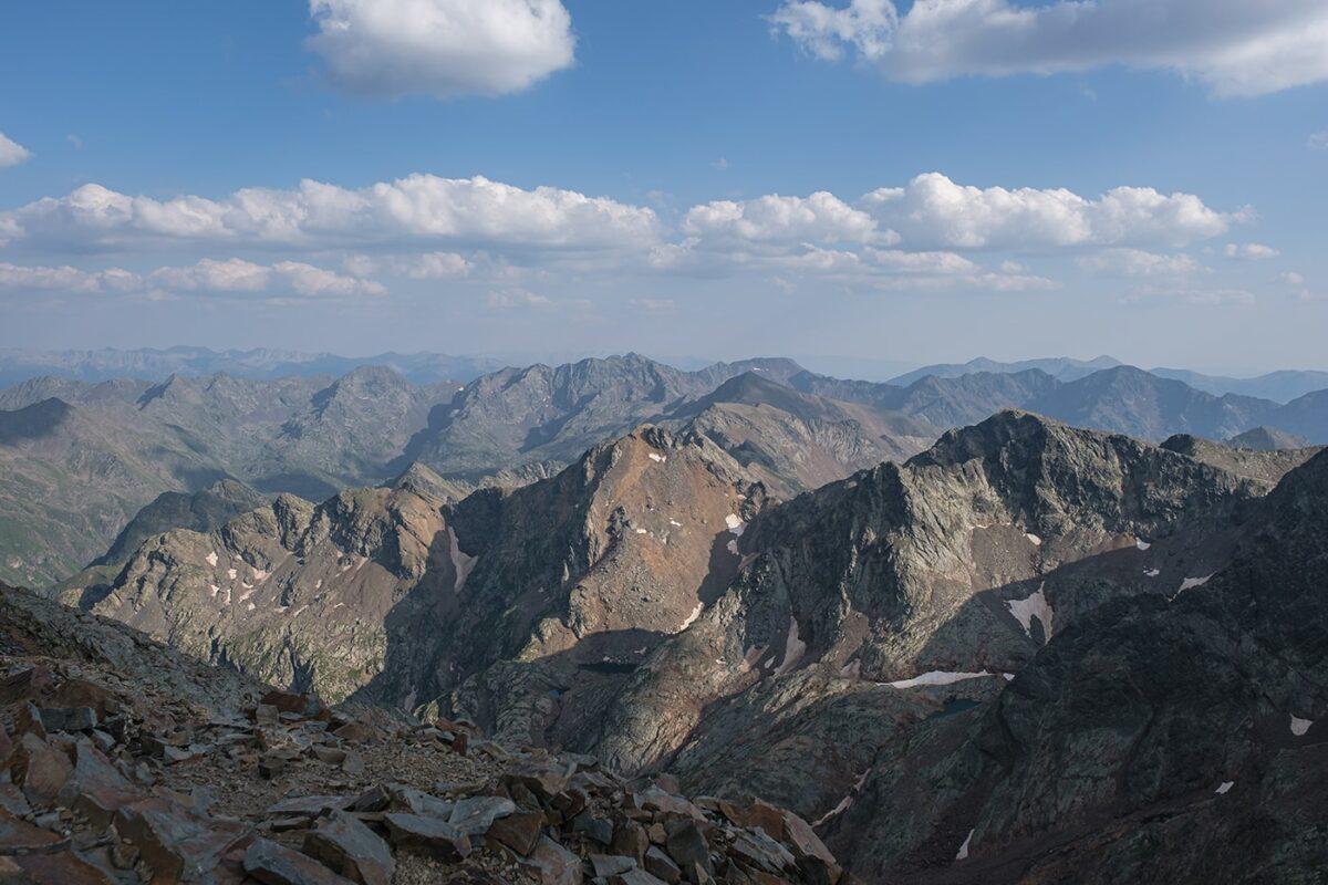 Panorama depuis le sommet du Montcalm