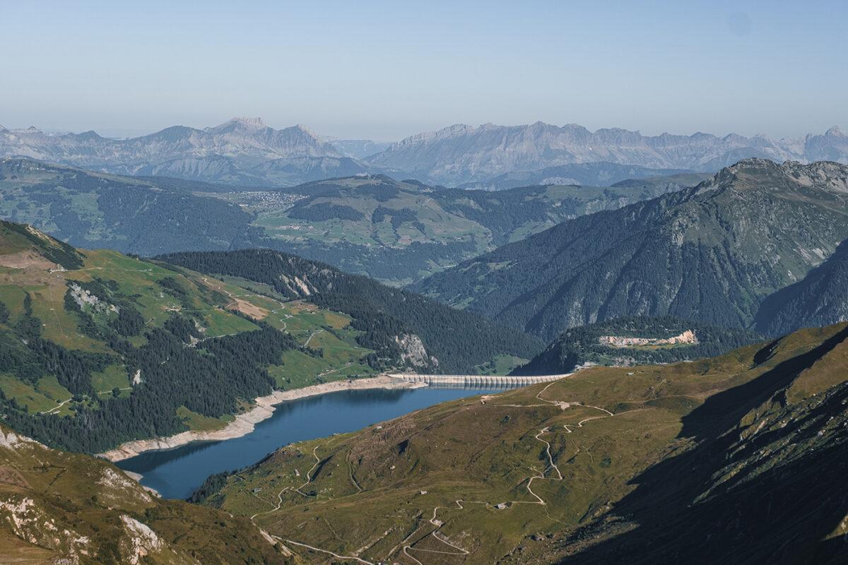 Lac de Roselend lac d'Amour