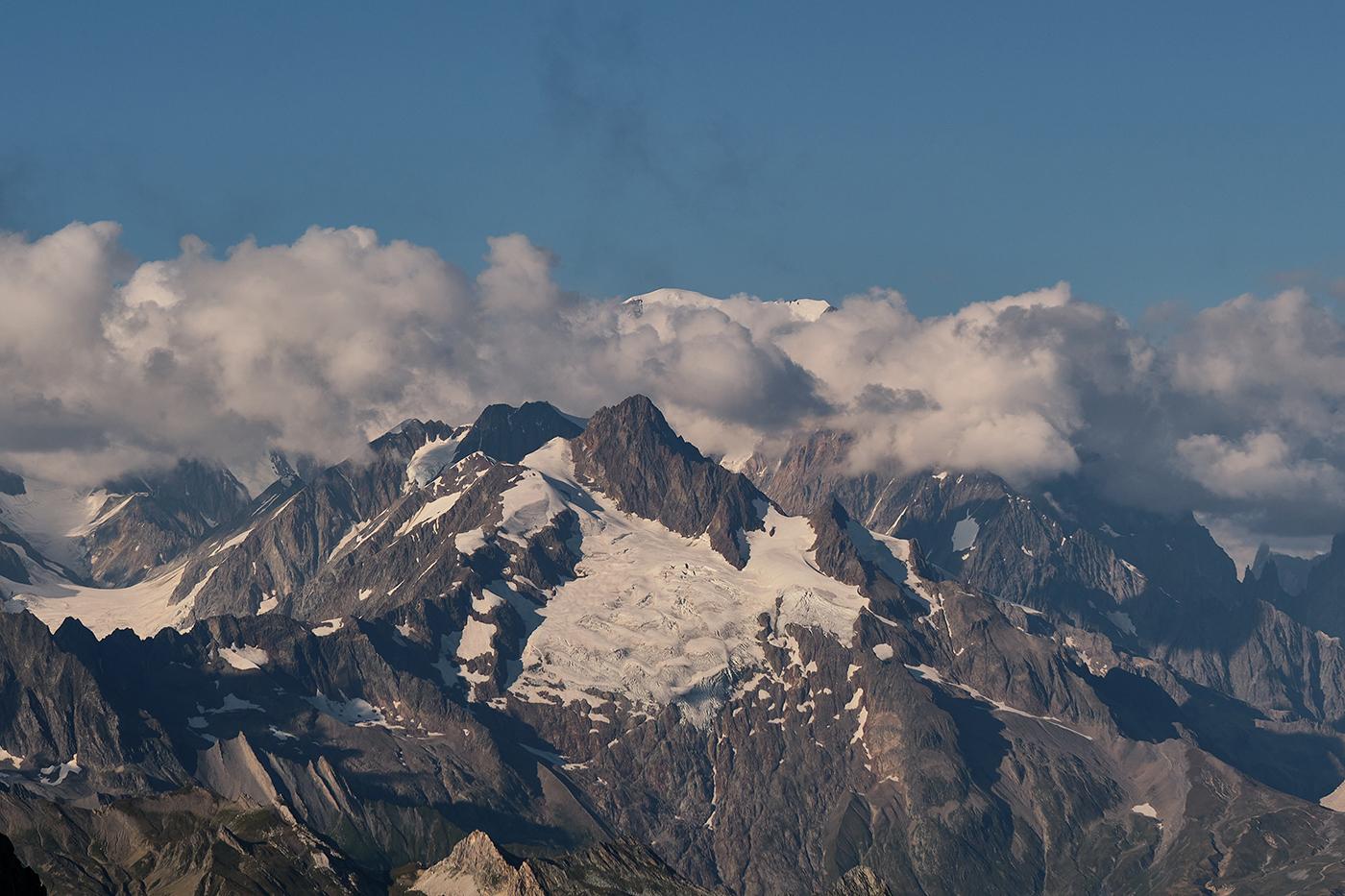 Mont blanc depuis le col du Grand Fond