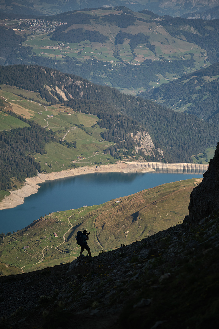 Lac de Roselend depuis la Pierra menta